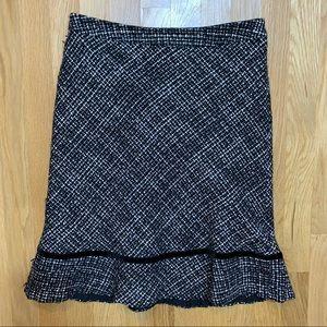 GAP black/white wool skirt